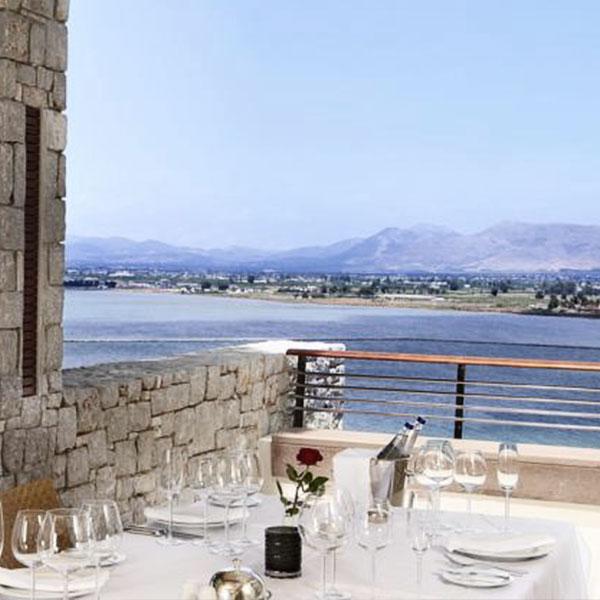 Amphitryon Hotel in Nafplion sea view